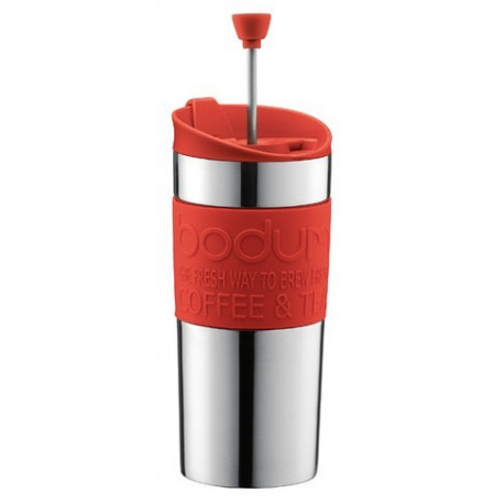 Bodum Travel Mug Press rouge