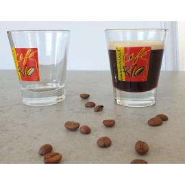 Verres expresso rio visuel avec café
