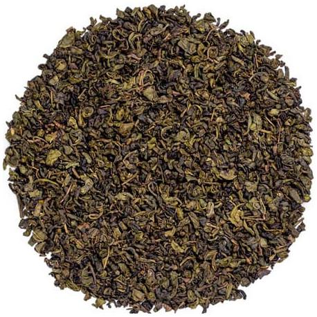 Kusmi tea menthe thé vert bio visuel feuilles de thé