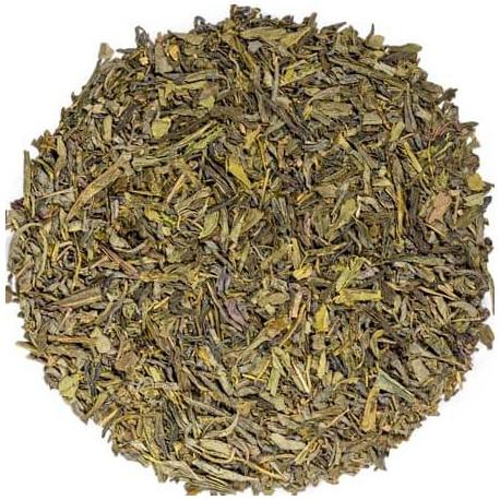 Kusmi tea thé vert Bio à la rose visuel feuilles