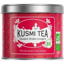 Kusmi tea 4 fruits rouges thé noir BIO, boite métal 100 grammes