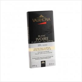 Tablette de chocolat blanc ivoire patissier 35% de cacao - Valrhona