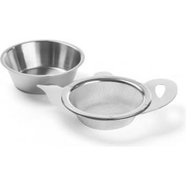 Coffret Continental – Dammann Frères Visuel coffret ouvert, boites métal et filtre à thé