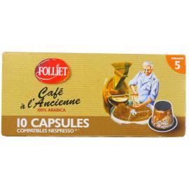 Café à l'ancienne intensité 5 - Capsules compatibles Nespresso - FOLLIET