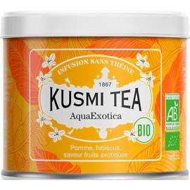 Kusmi Tea Aqua Exotica Lov Organic eau de fruits exotique boite métal