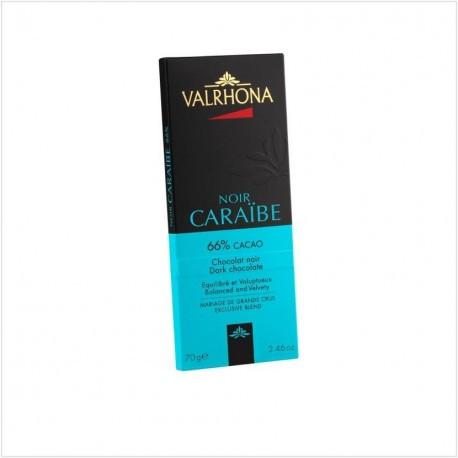 Tablette de chocolat noir Caraibe 66% cacao - Valrhona