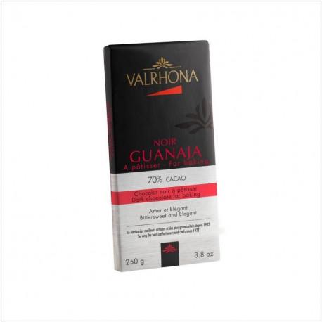 Tablette de chocolat noir pâtissier Guanaja 70% cacao - Valrhona