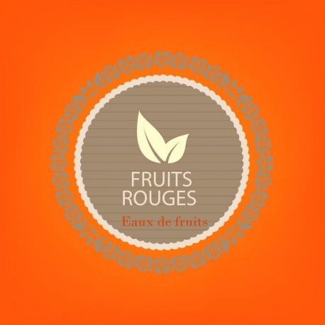 FRUITS ROUGES  - eaux de fruits