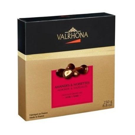 Coffret chocolat Valrhona amandes-noisettes 250g