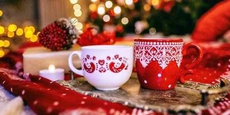 Illustration thé vert de Noël