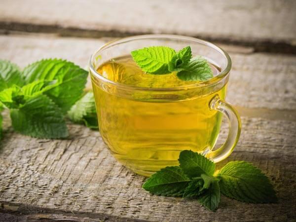 Illustration thé vert à la menthe