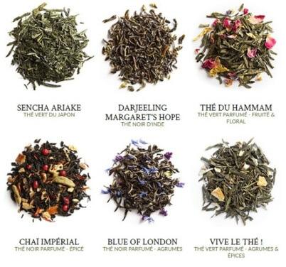 Palais des Thés coffret des Favoris visuel des feuilles de thés