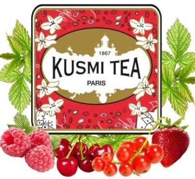 Présentation Kusmi Tea Quatres Fruits rouges