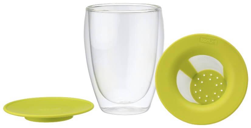 Tisanière Bodum Tea For One Mug Filtre couvercle